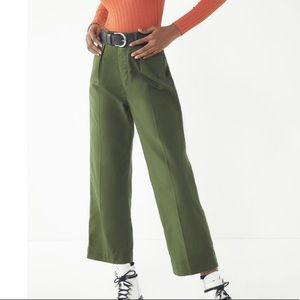 Vintage green relaxed pants